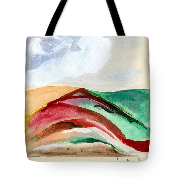 Red Mountain Dawn Tote Bag