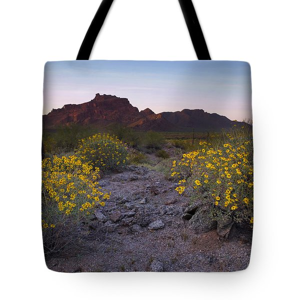 Red Mountain Dusk Tote Bag by Sue Cullumber