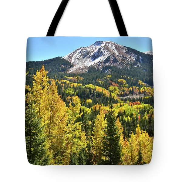 Tote Bag featuring the photograph Red Mountain Fall Color by Ray Mathis