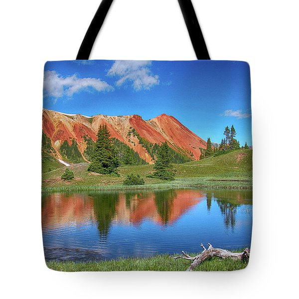 Red Mountain-grey Copper Gulch Tote Bag