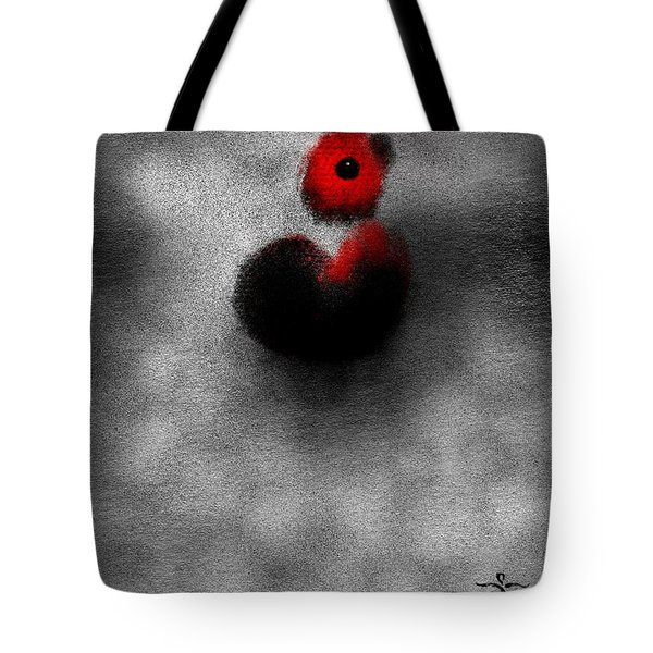 Tote Bag featuring the digital art Red Mouse by James Lanigan Thompson MFA
