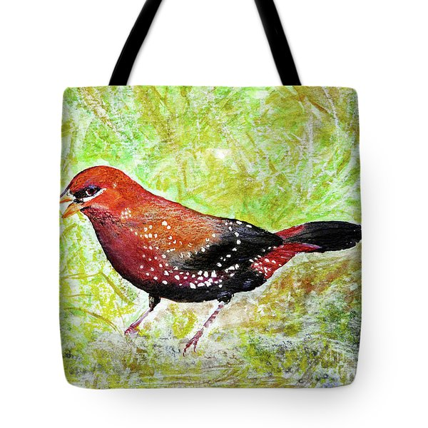 Red Munia Tote Bag