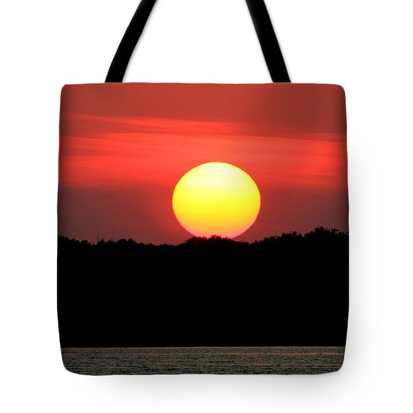 Red Myakka Sunset Tote Bag