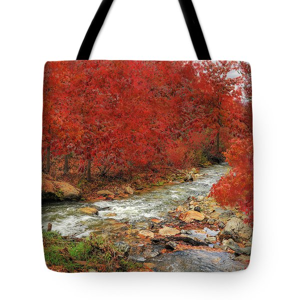 Red Oak Creek Tote Bag