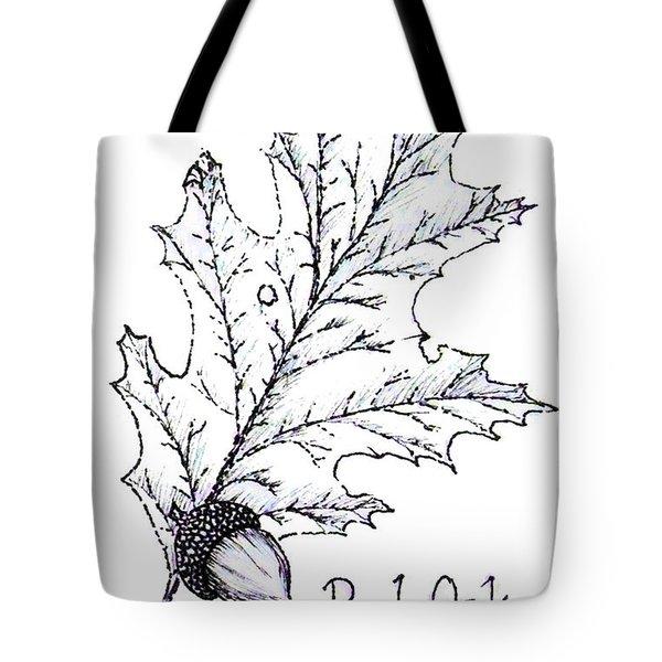 Red Oak Leaf And Acorn Tote Bag