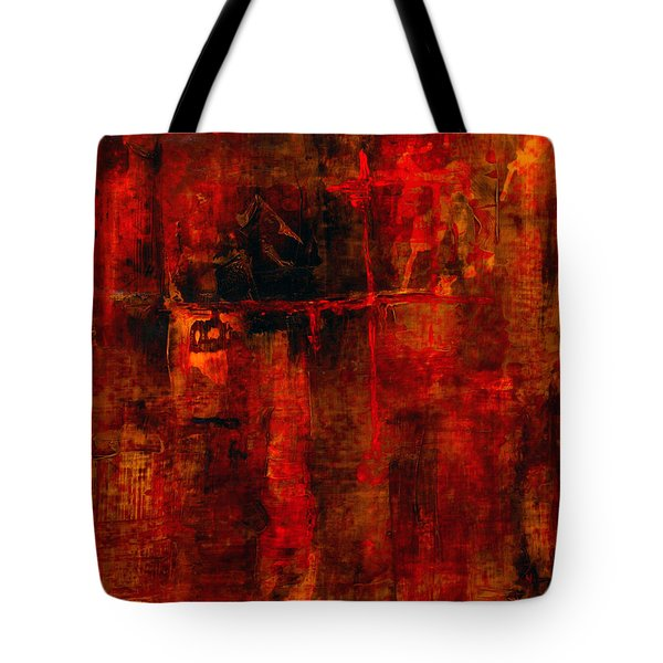Red Odyssey Tote Bag by Pat Saunders-White
