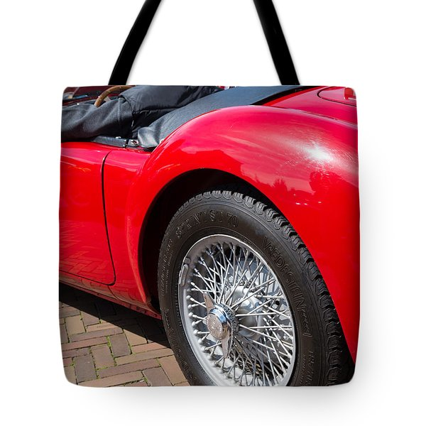 Tote Bag featuring the photograph Red Oldtimer by Hans Engbers