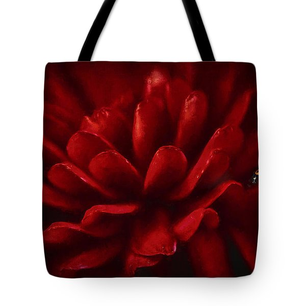 Red On Red Tote Bag by Darren Fisher