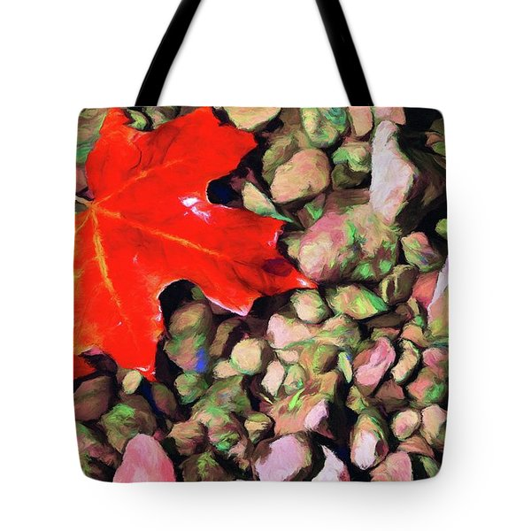 Red On The Rocks Tote Bag by Jeffrey Kolker