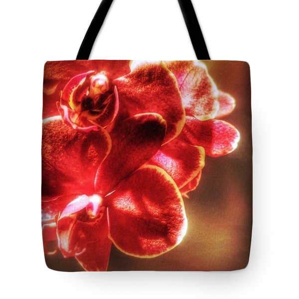 Tote Bag featuring the photograph Red Orchid by Isabella F Abbie Shores FRSA