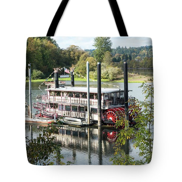 Red Paddle Wheel Tote Bag