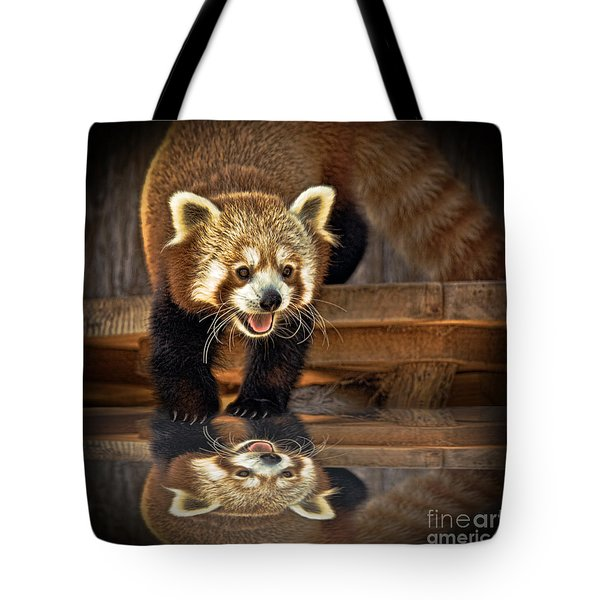 Red Panda Altered Version Tote Bag