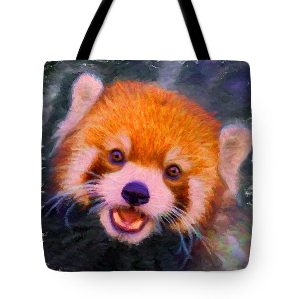 Red Panda Cub Tote Bag