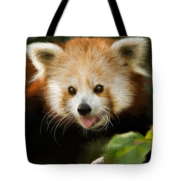 Tote Bag featuring the photograph Red Panda by Lana Trussell