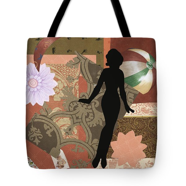 Red Paper Doll Tote Bag