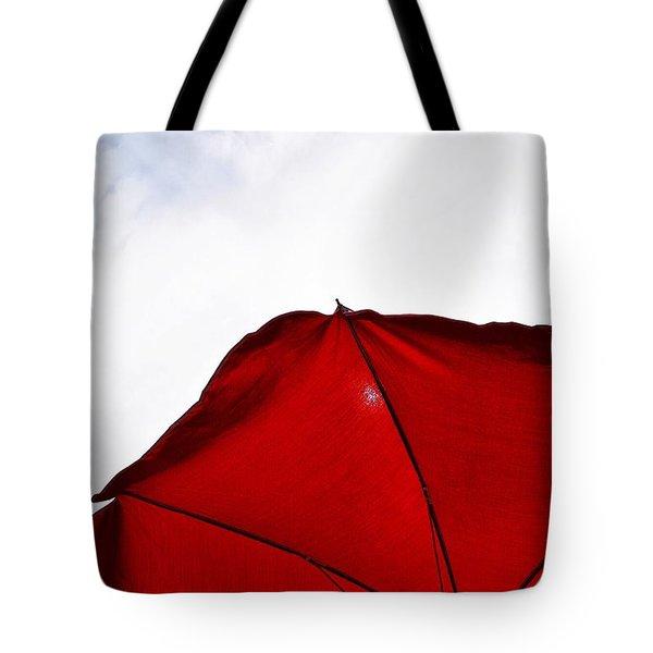 Red Parasol Tote Bag