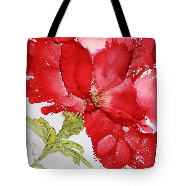 Red Tote Bag by Pat Purdy