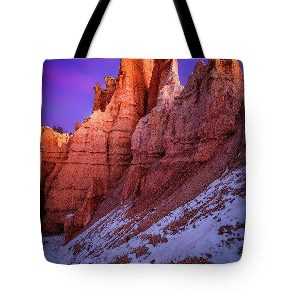 Red Peaks Tote Bag