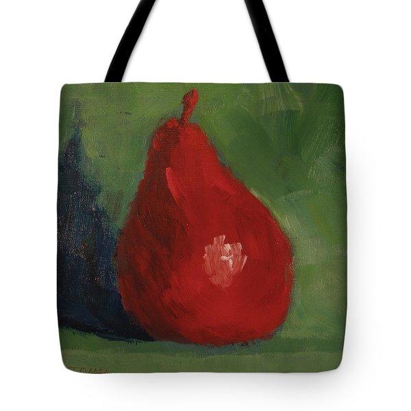 Red Pear Tote Bag