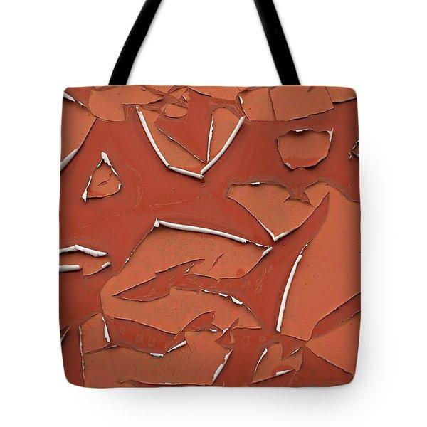 Red Peeling Paint Tote Bag