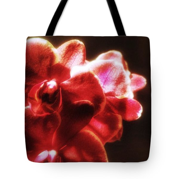 Tote Bag featuring the photograph Red Phalaenopsis by Isabella F Abbie Shores FRSA