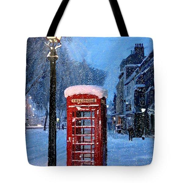 Red Phone Box Tote Bag by James Shepherd