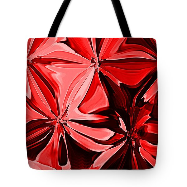 Red Pinched And Gathered Tote Bag