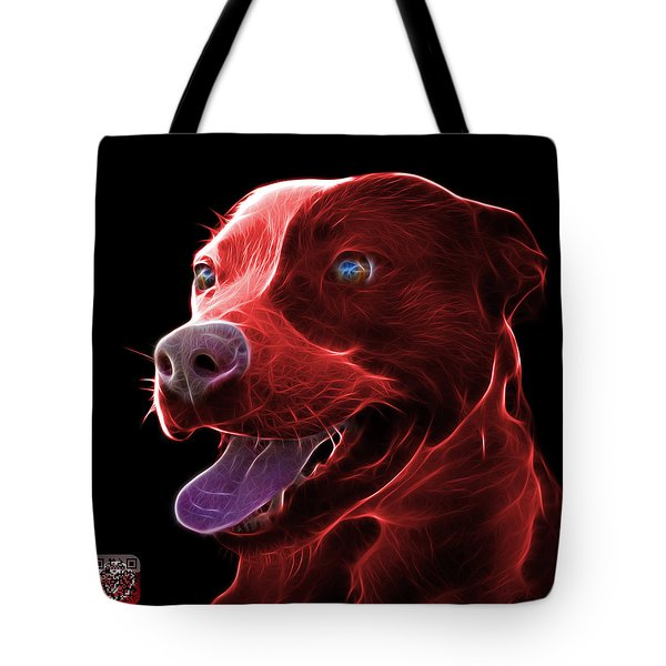 Red Pit Bull Fractal Pop Art - 7773 - F - Bb Tote Bag