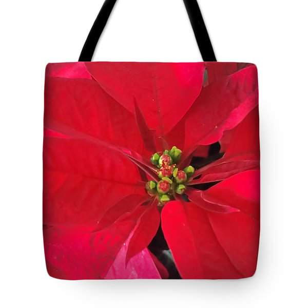 Red Poinsettia Tote Bag