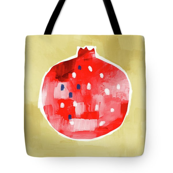 Red Pomegranate- Art By Linda Woods Tote Bag