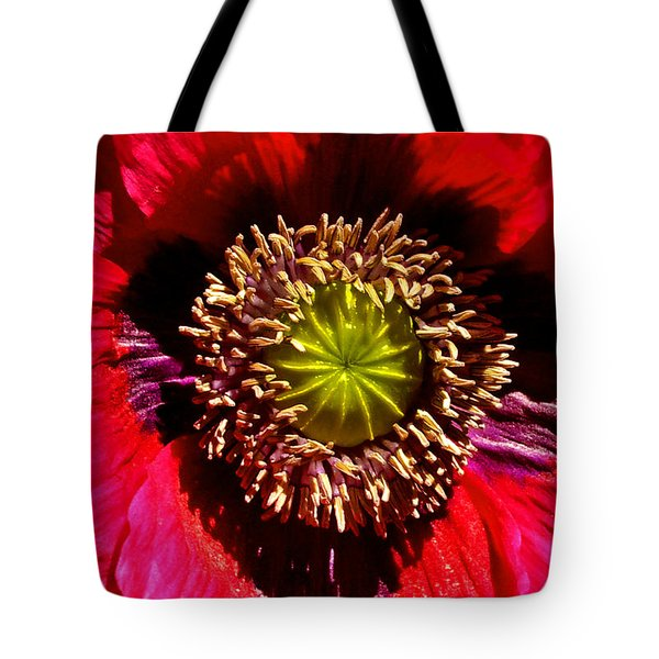 Red Poppy 014 Tote Bag