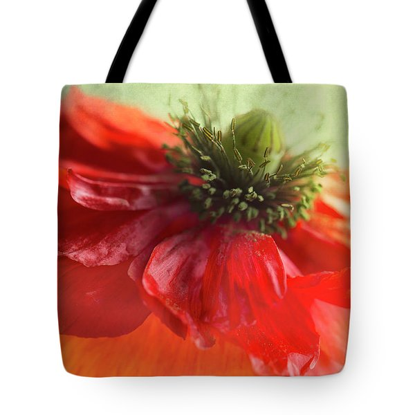 Tote Bag featuring the photograph Red Poppy by Elena Nosyreva
