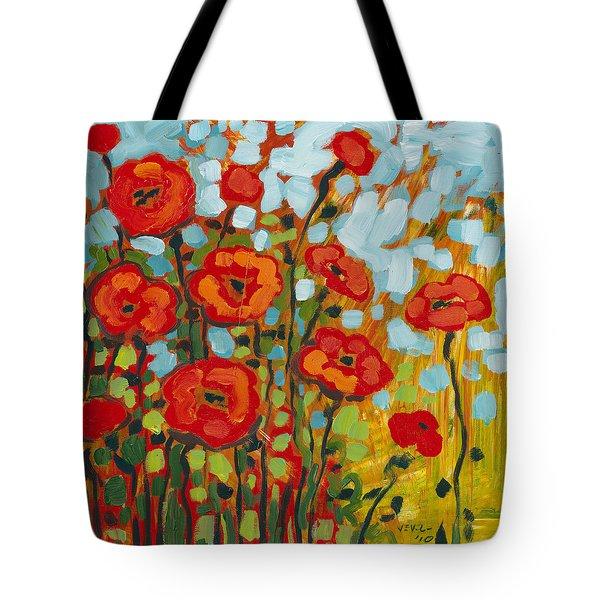 Red Poppy Field Tote Bag