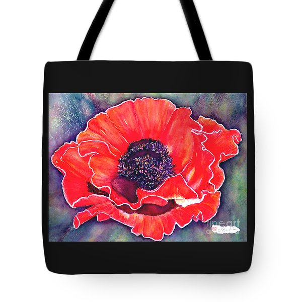 Red Poppy Tote Bag by Norma Boeckler