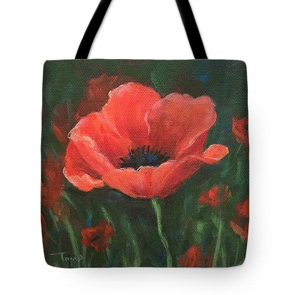 Red Poppy Tote Bag