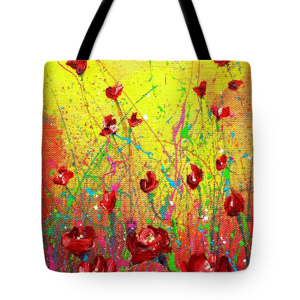 Red Posies Tote Bag