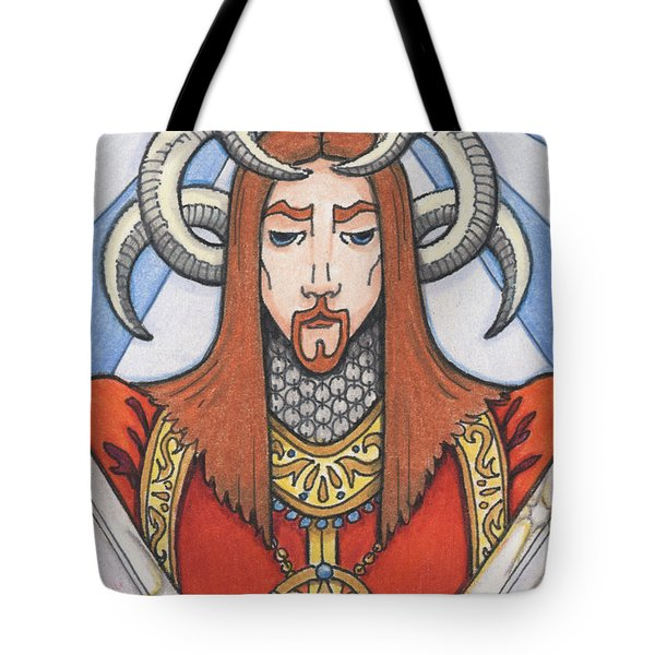 Red Prince Tote Bag by Amy S Turner