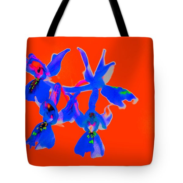 Red Provence Orchid Tote Bag by Richard Patmore