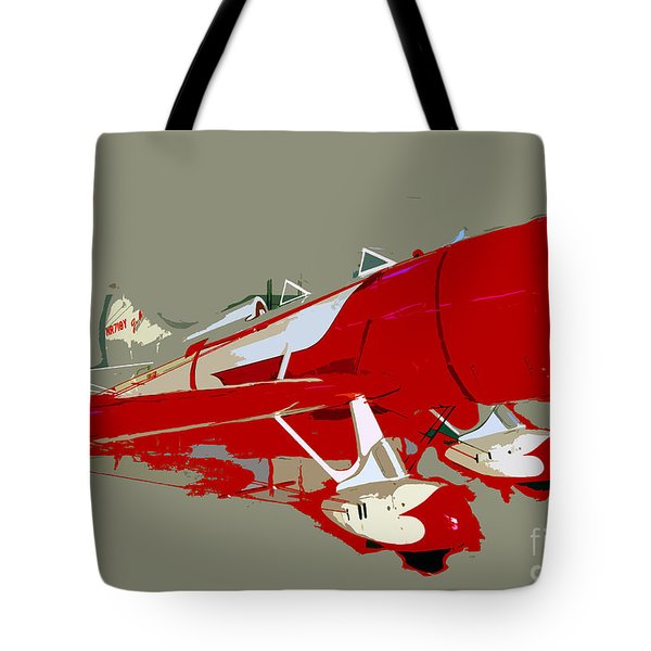 Red Racer Tote Bag by David Lee Thompson