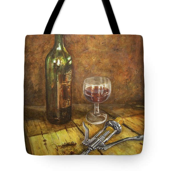 Red Red Wine Tote Bag by Marty Garland