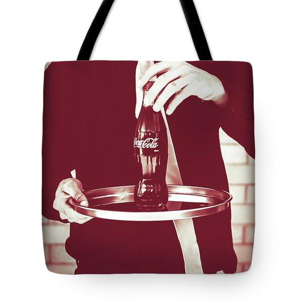 Red Retro Coca-cola Tote Bag