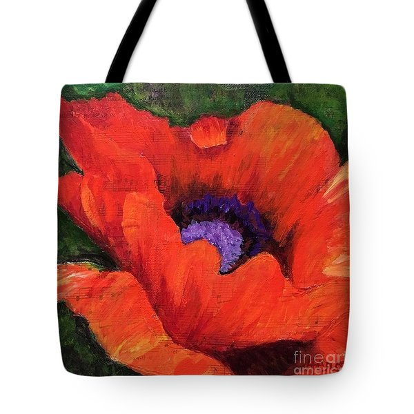 Red Rhapsody Tote Bag