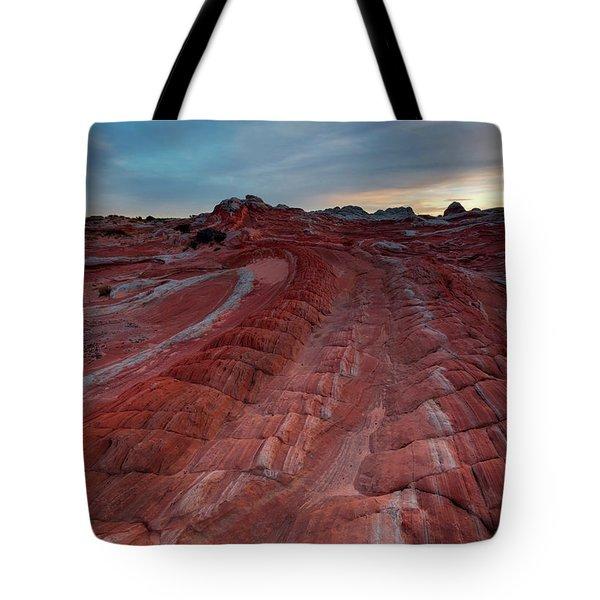 Red Ribbon Sunset Tote Bag