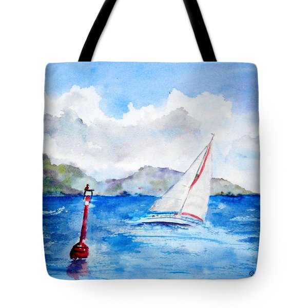 Red Right Returning Tote Bag