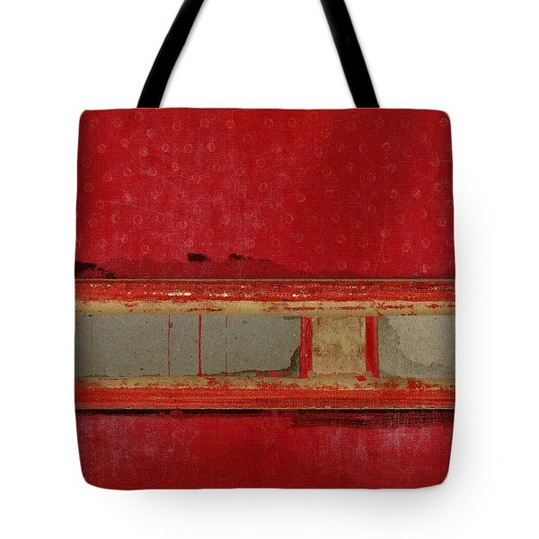 Red Riley Collage Square 1 Tote Bag