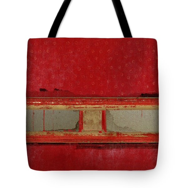 Red Riley Collage Square 2 Tote Bag