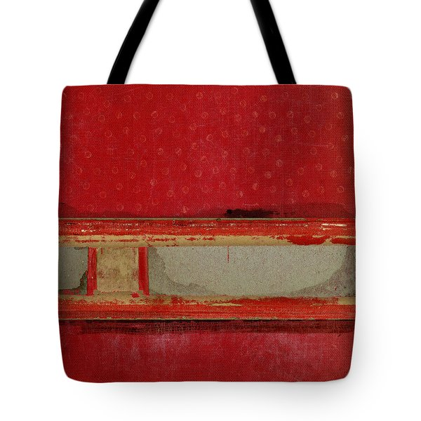 Red Riley Collage Square 3 Tote Bag