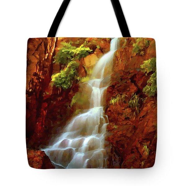 Red River Falls Tote Bag by Peter Piatt