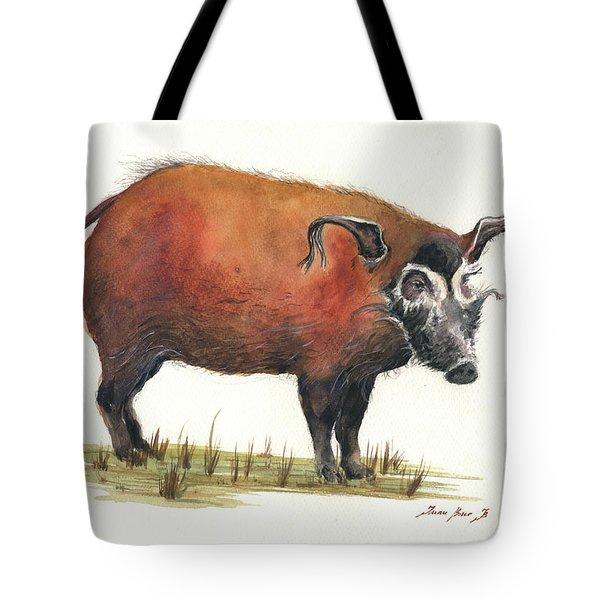 Red River Hog Tote Bag