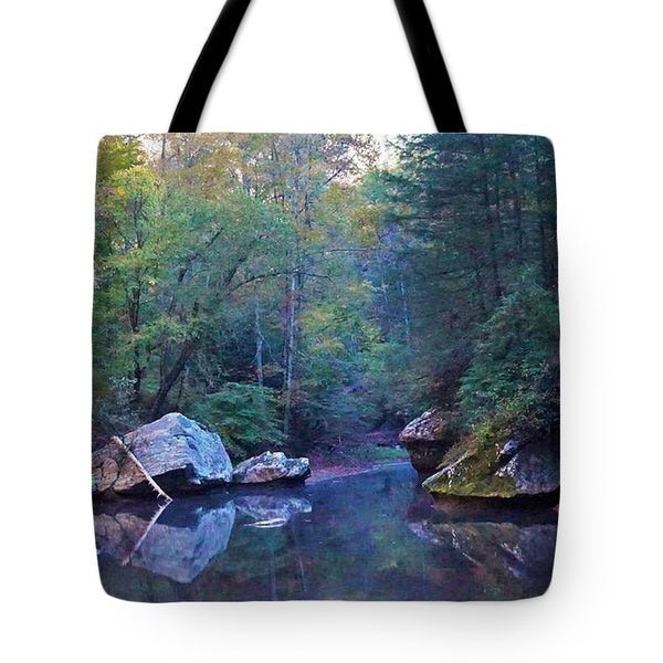 Red River Morning Tote Bag